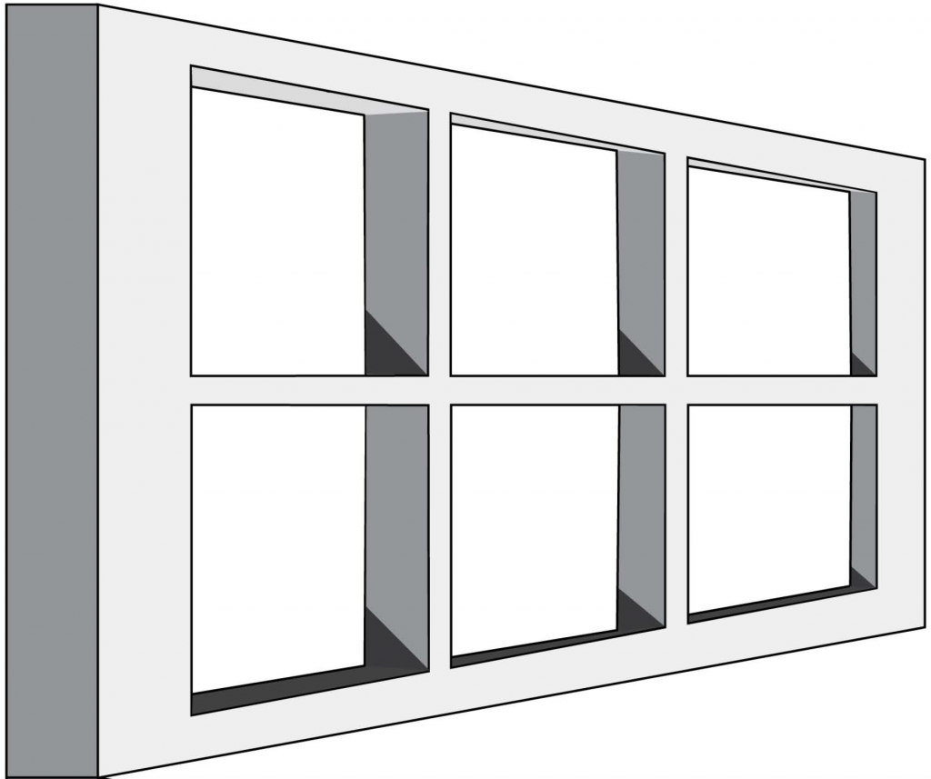 Ames window illusion example